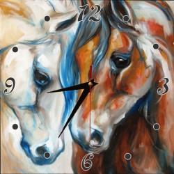 Часы без багетной рамы по шаблону